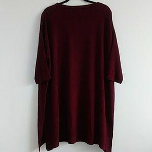 Sweet Romeo Sweaters - Sweet Romeo Buegundy size 3X Short Sleeve Blouse